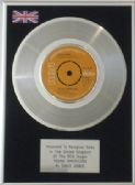 "DAVID BOWIE - 7"" Platinum Disc -  YOUNG AMERICANS"